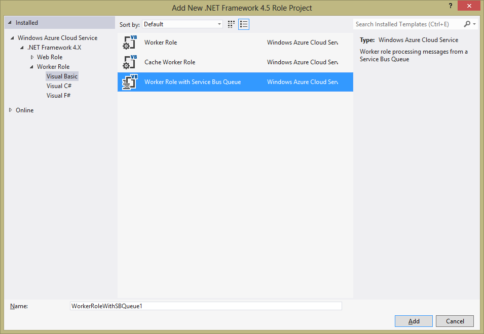 Windows Azure, Service Bus Queue between Webrole and Worker role